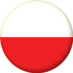 Poland Country Flag 25mm Button Badge